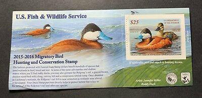 #RW82A 2015 - 2016 - US Federal Duck Stamp - Creases