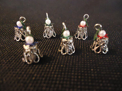 For Westrim Mini Tree 6 Handcrafted Silvern Bell Filigree Ornaments