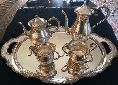 Japanese 950 sterling 5 pcs tea and coffee service - K. Uyeda - Taisho Period