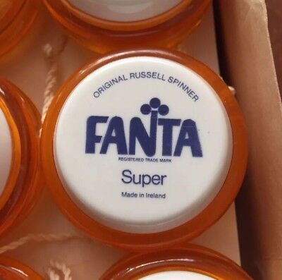 **NEW FROM THE BOX** UNUSED FANTA RUSSELL Irish Spinner Coca Cola YoYo,1980's