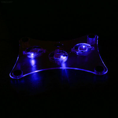 D239 LED Notebook Cooling Pad USB Transparent Notebook Cooling Accessory Externa