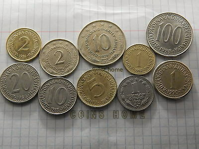 Cоins Hоme Lot 10 Circulated 1968+ YUGOSLAVIA dinar Set3621 Ungraded Uncertified