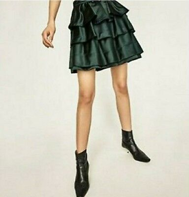 c2dc196b6fd New With Tags  69 Zara Bottle Green Frilled Skirt Sz Xl Lower Price Last  One!