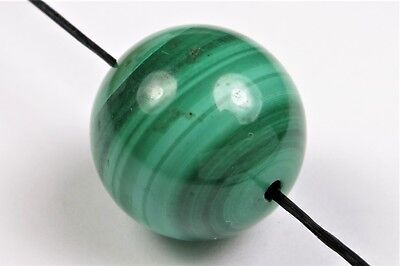 Top Grade Premium Quality Malachite Large Round Bead - close to 16 mm - 6692A