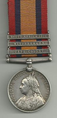 1899 QSA 3 clasps Pte J H Miller Grenadier Guards from Walthamstow