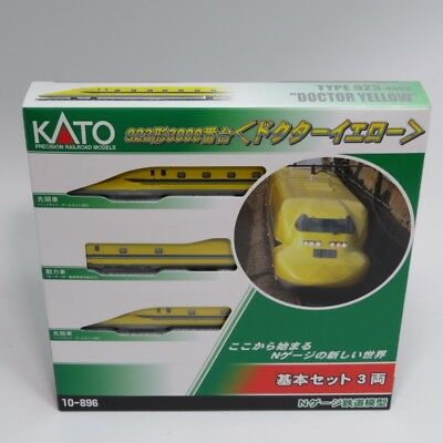 KATO 10-896 JR Shinkansen Series 923 'Doctor Yellow' 3 Cars Set (N scale)