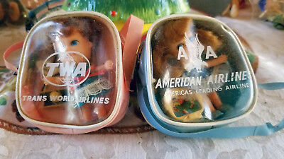 TWA and AA Airlines Dolls - Rare Souvenirs
