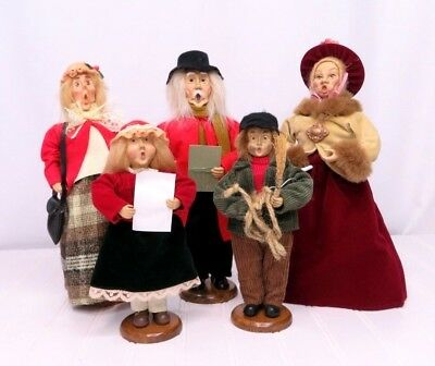 Christmas Carolers Figurines Lot of Five Victorian Singing