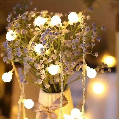 LED Frosted Ball String Copper Wine Fairy Night Lights Party Xmas Decor Gift Z
