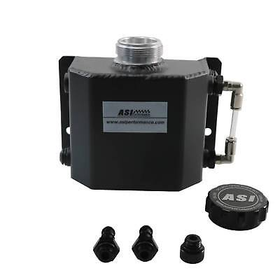 Universal 1L Aluminum Radiator Overflow Recovery Water Tank/Can Black Pick Up OZ