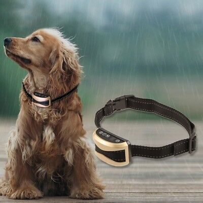 Rechargeable LCD Electric Anti Bark Pet Dog Stop No Barking Training Collar
