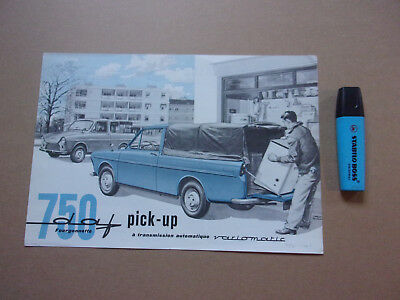 Brochure publicitaire DAF 750 Fourgonnettte Pick-up, 09/61