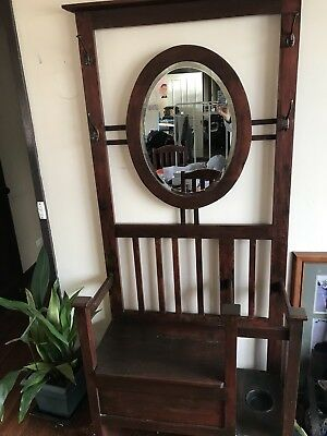 Hallway Coat Stand And Mirror