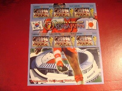 Liberia - 2002 World Cup 28 - Minisheet - Unmounted Mint Miniature Sheet