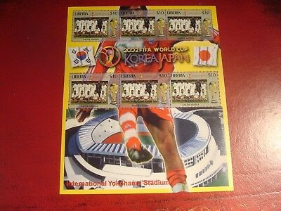 Liberia - 2002 World Cup 29 - Minisheet - Unmounted Mint Miniature Sheet