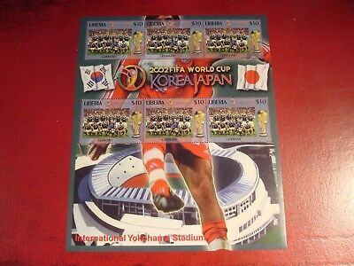 Liberia - 2002 World Cup 30 - Minisheet - Unmounted Mint Miniature Sheet