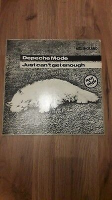 """Depeche Mode Just Can´t Get Enough 12"""" Single First German Press 2 Track"""