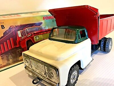 Vintage ATC FORD DUMP TRUCK NO. 1 - B  MIB Tin Toy Made In Japan 1960s F Series