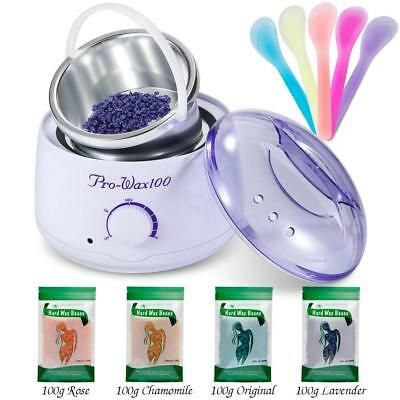 Wax Heater Professional Electric Warmer Machine Kit Hair Removal Beans & Sticks
