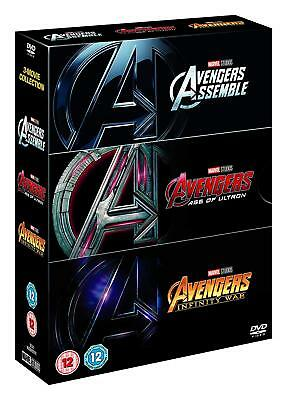 Avengers 1-3 Boxset Triplepack Complete Trilogy 2018 - Infinity War DVD 2018 NEW