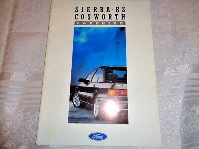 FORD SIERRA RS COSWORTH SAPPHIRE BROCHURE February 1988 FA820