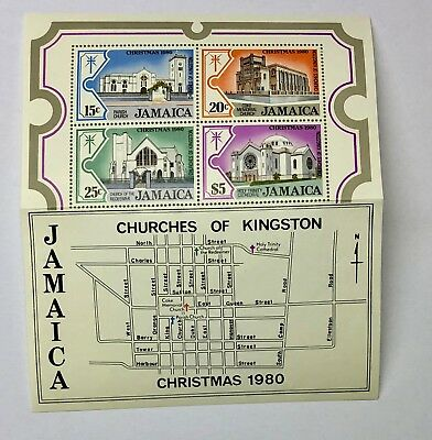 Jamaica 1980 - 4er Set - Churches of Kingston - Christmas 1980