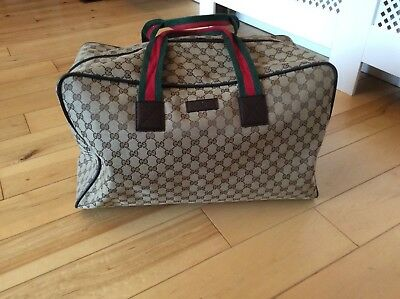 857c3402c7f AUTHENTIC GUCCI GG Canvas Hand Bag 153009 Tote Bag Beige Brown 56415 ...