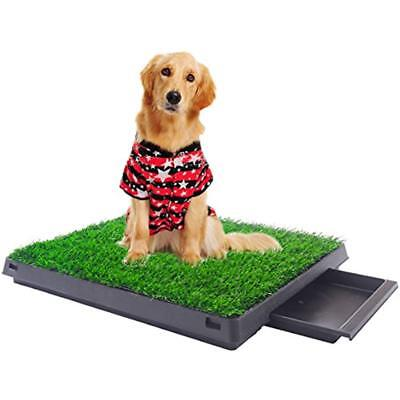 Indoor Training Pads & Trays Puppy Dog Pet Potty W/Tray Pee Mat Grass House