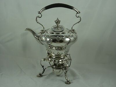 STUNNING EDWARDIAN silver KETTLE ON STAND, 1908, 1153gm