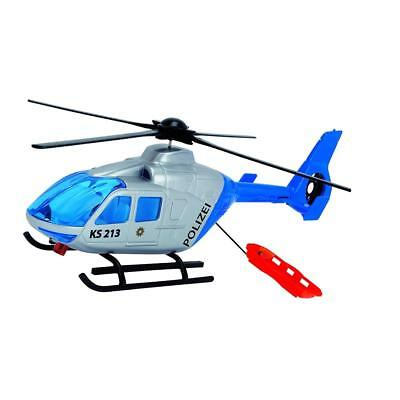 Dickie Toys 203714001 - Police Helicopter Polizei Helikopter aufziehbarer Rotor