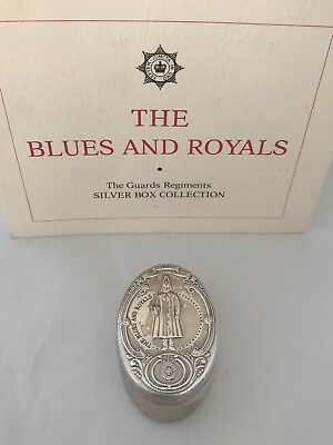 Sterling Silver Blues & Royals Household Cavalry Box 1978 London