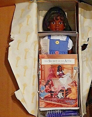 "NEW Magic Attic Club 18"" Doll ' Keisha ' with Book & Necklace in Box"