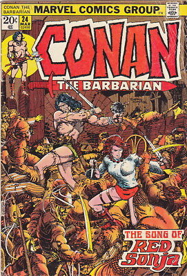 CONAN THE BARBARIAN #24 - 1st APPEARANCE RED SONJA - KEY BOOK !