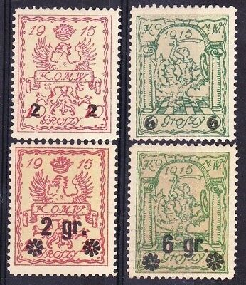 POLAND GERMANY 1915 occupation Warsaw local post stamps MNH ** !