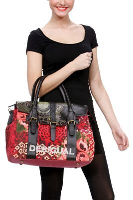 Sac Cartable Desigual Neuf Femme Bols Big Avatar Carryover Rouge Grenat 5e958fed6d3
