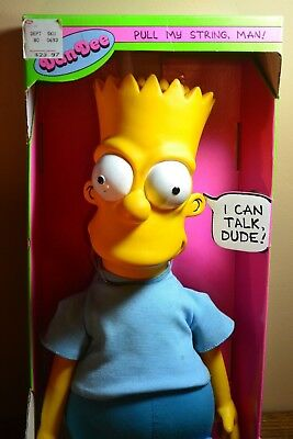 1990 Talking Bart Simpson Plush Doll Figure Working New in Box The Simpsons Toy