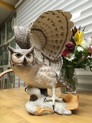 Franklin Mint The Great Horned Owl By George McMonigle