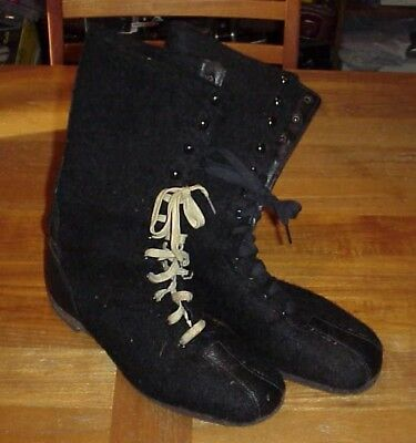 Vintage WW2 WWII US Navy USN Winter Boot Felt Liners Footwear Field Gear Uniform
