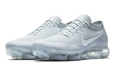 differently c6f05 63f4f Nike Air Vapormax Flyknit 2 II Pure Platinum White Men Running Shoes 942842 -100