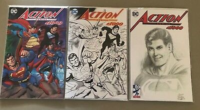 3x ACTION COMICS #1000 DYNAMIC FORCES VARIANT SET Dan Jurgens Curt Swan DC
