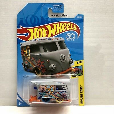 Hot Wheels 2018 Volkswagen VW Kool Kombi Art Cars 8/10