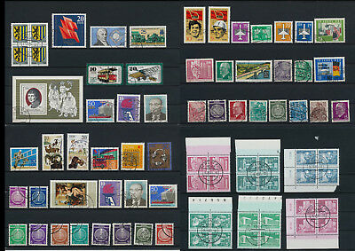 Stamps of Old Germany, DDR, Alliierte Besatzung, used,  great Lot (E 35)