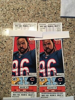 chicago bears vs packers tickets