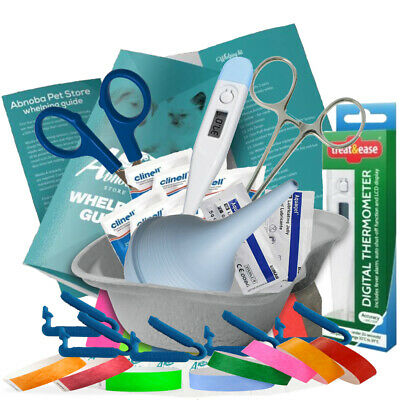 Whelping Puppy Delivery Pack Kit Cord Clamps mucus extractor Warwick Whelping®