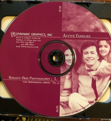 Royalty Free Stock Photography 2 Discs - Dynamic Graphics, Active Families