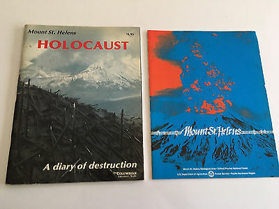 Mt St Helens Volcano Holocaust book, vintage 1980, 64 pages,