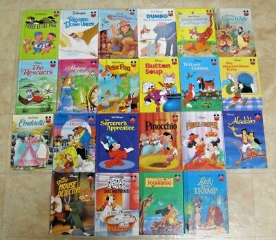 22 Pc Disney's Wonderful World of Reading Hardcover Book Lot Grolier Book Club