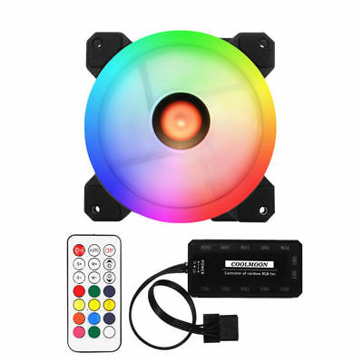 3pcs 120mm RGB PC Computer Case CPU Cooler Cooling Fan LED Light with Controller