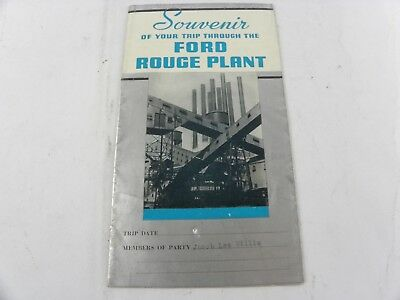 Vintage Brochure ~Souvenir Of Your Trip Through The Ford Rouge Plant 1948