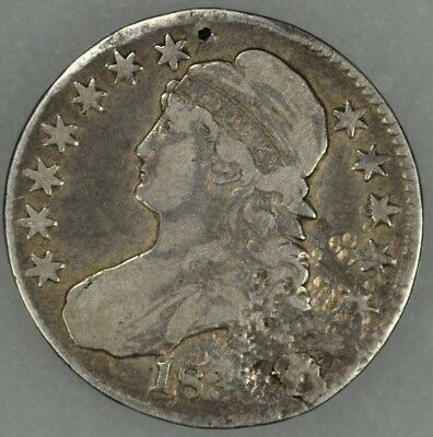 183? 50c Capped Bust Half Dollar Fine Details Damaged Circulated